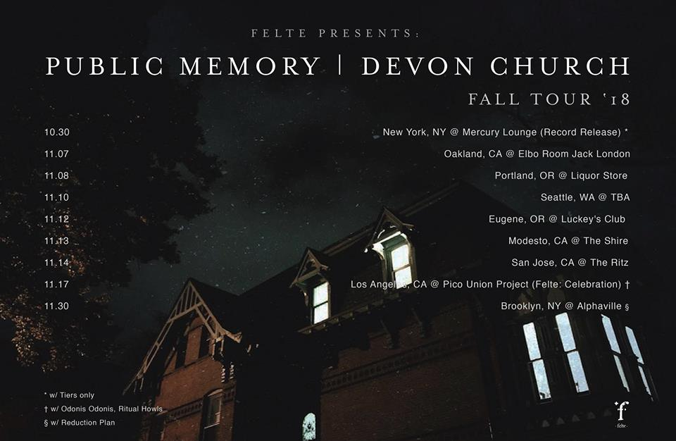Felte Presents: Public Memory, Devon Church with nu.ennui