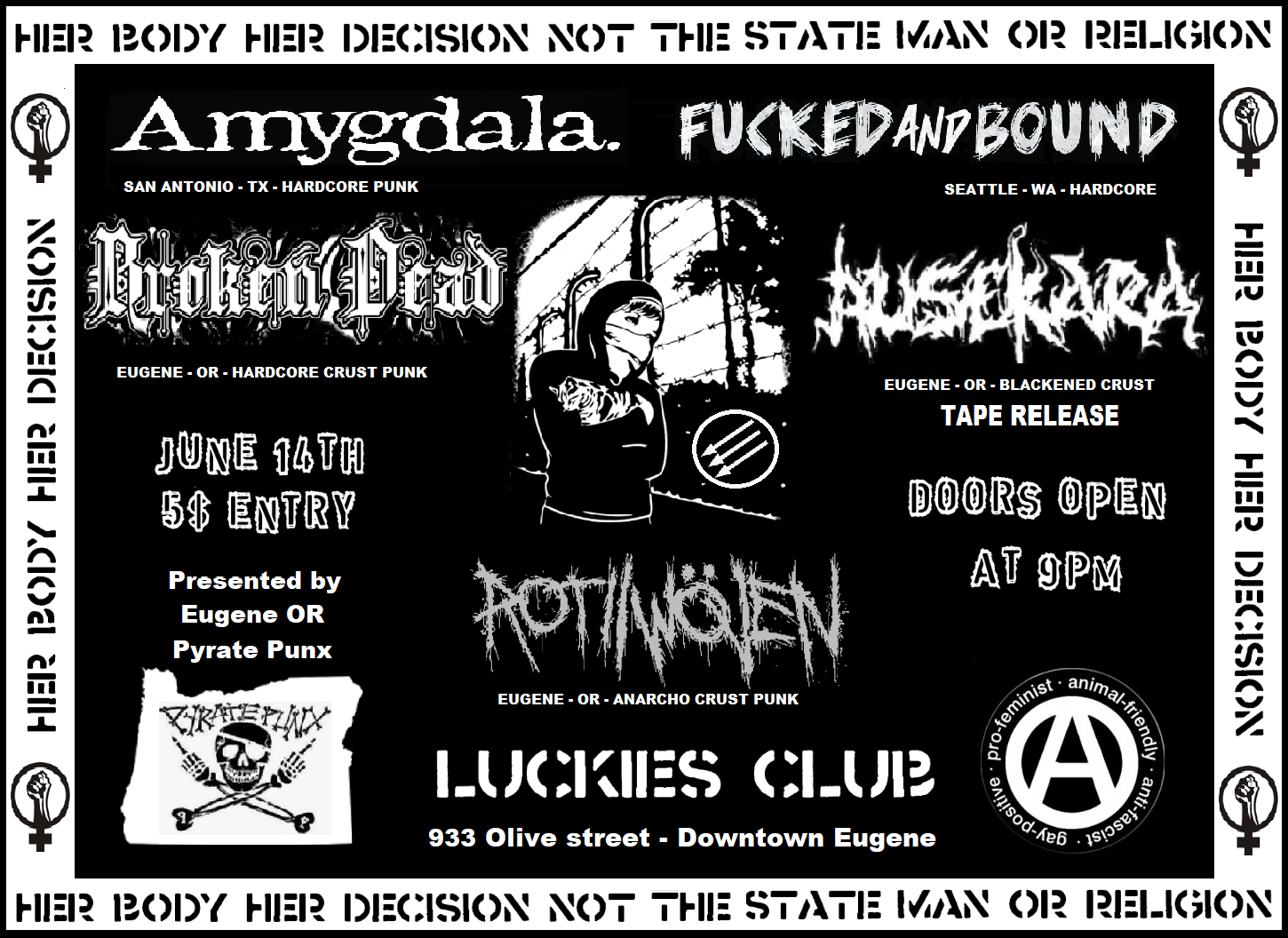 Amygdala / Fucked and Bound / Broken Dead / Ausekara / Rot Woven
