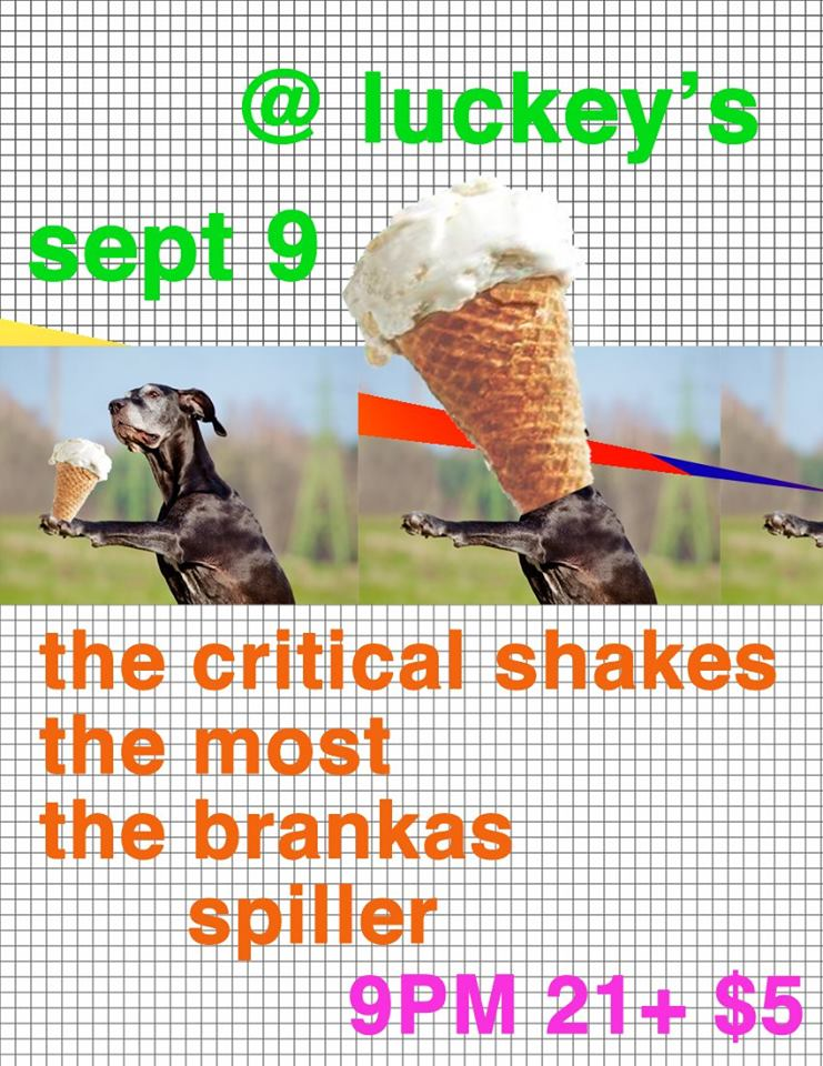 Critical Shakes / The Brankas / Most / Spiller