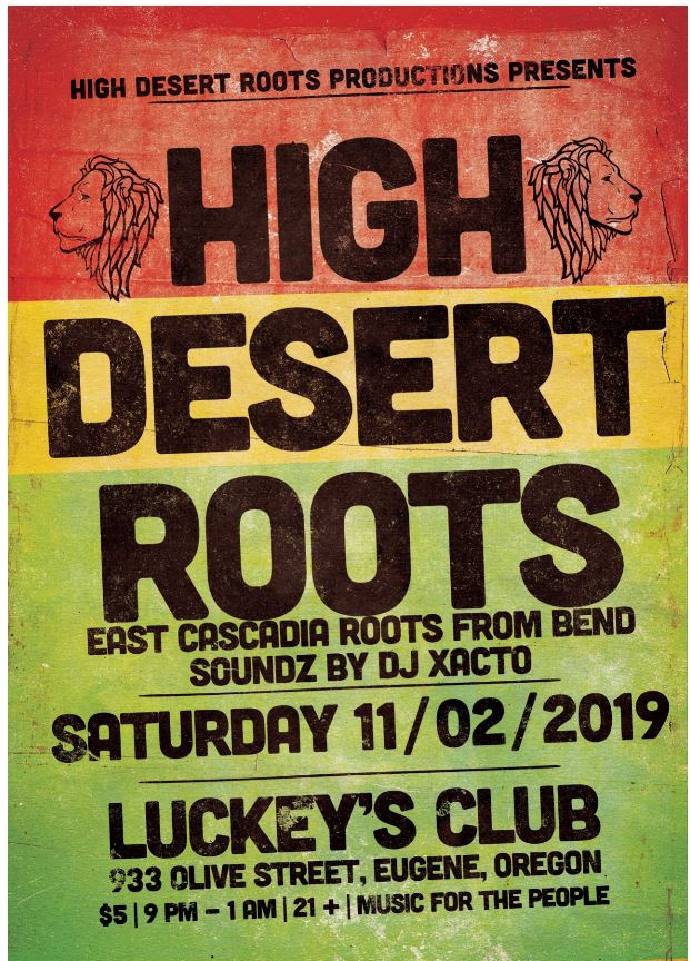 Reggae Night with HIGH DESERT ROOTS