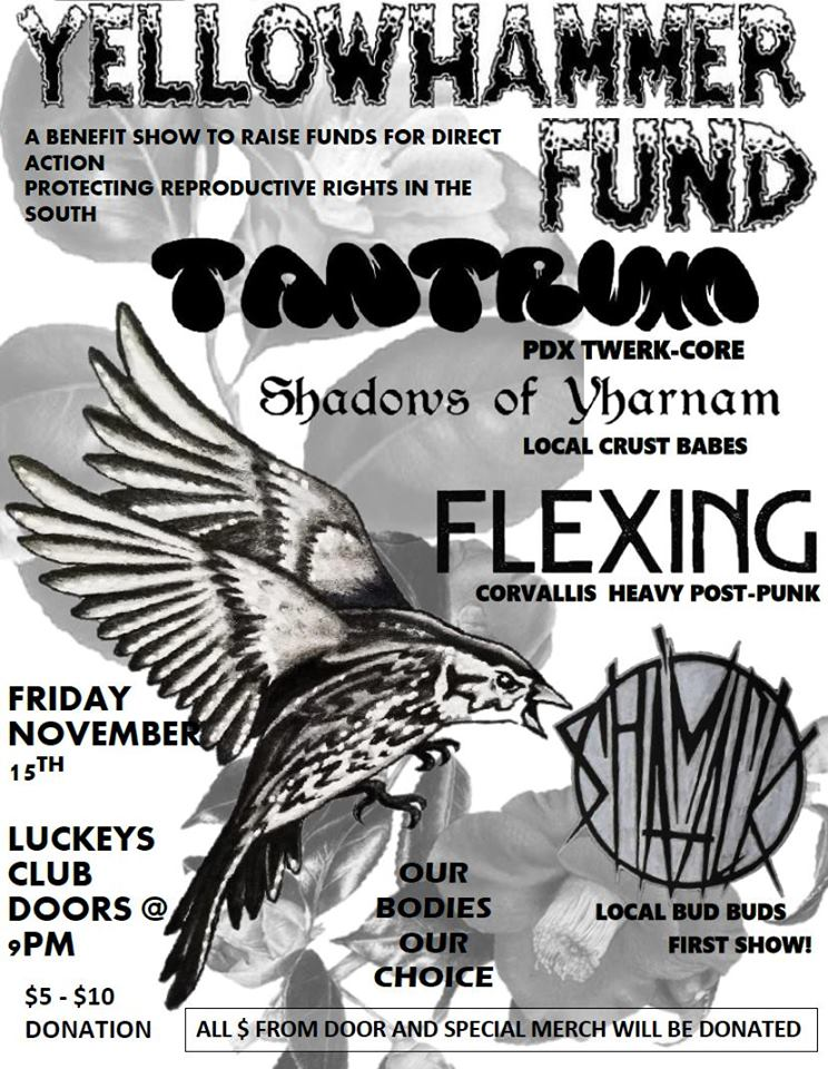 YELLOWHAMMER BENEFIT with SHADOWS OF YARNHAM / TANTRUM / FLEXING / SH'MACK